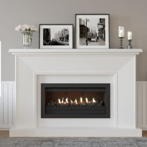 Traditional Built-In Gas Fireplace